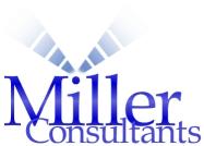 Logo Miller Consultants met molen als beeldmerk